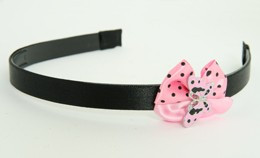 Butterfly pink light pink bow & animal