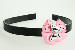 Butterfly white light pink bow & animal