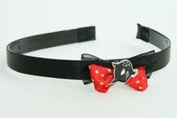Black-red / cat black red bow & animal