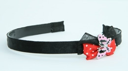 Black-red / butterfly pink red bow & animal