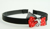 Black-red / swallow white red bow & animal