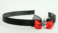 Black-Red / cat bone black-white red bow & animal