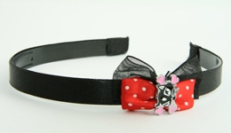 Black-red / cat bone black-pink red bow & animal