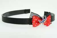 Black-red / swallow color red bow & animal