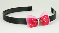 Pink / ladybird dark pink bow & animal