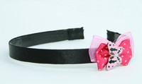 Pink / butterfly pink dark pink bow & animal