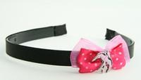 Pink / swallow pink dark pink bow & animal