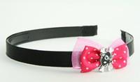Pink / cat bone black-white dark pink bow & animal