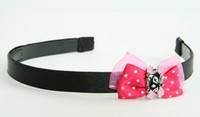 Pink / cat bone black-pink dark pink bow & animal