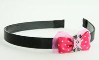 Pink / cat bone pink-black dark pink bow & animal
