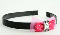 Pink / cat bone white-black dark pink bow & animal