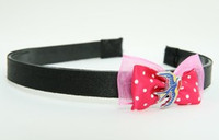 Pink / swallow color dark pink bow & animal