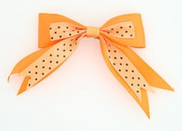 Dot orange clean hair clips piece
