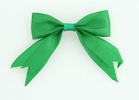 Green clean hair clips piece