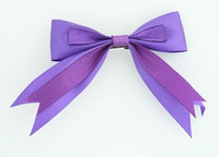 Purple clean hair clips piece
