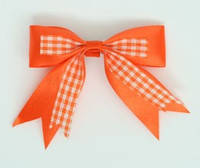 Orange clean hair clips piece