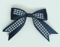 Navy clean hair clips piece
