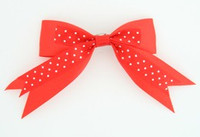 Dot red clean hair clips piece