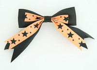 Black-orange clean hair clips piece