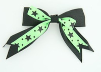 Black-green clean hair clips piece