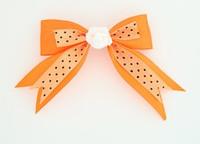 Dot orange / flower white orange flower