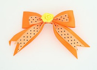 Dot orange / flower yellow orange flower