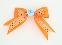Dot Orange / flower blue orange flower