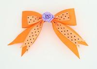Dot orange / flower purple orange flower