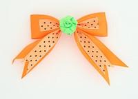 Dot orange / flower green orange flower