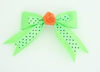 Dot green / flower orange green flower