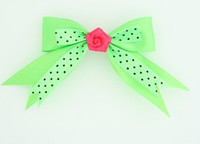 Dot green / flower D.pink green flower