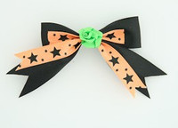 Bl-orange / flower green black-orange flower