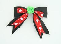 Bl-red / flower green black-red flower