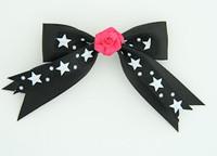 Bl-white / flower D.pink black-white flower