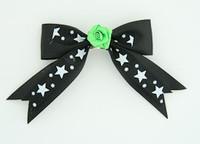 Bl-white / flower green black-white flower