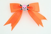 Orange / skull tooth pink orange skull