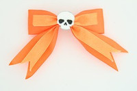 Orange / skull plain white orange skull