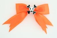 Orange / skull squared white orange skull