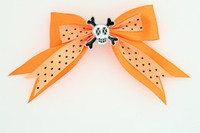 Dot orange / skull cross eye white orange skull