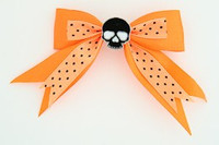 Dot orange / skull plain black orange skull