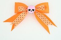 Dot orange / skull plain pink orange skull