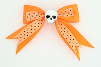 Dot orange / skull plain white orange skull
