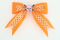 Dot orange / skull tooth pink orange skull
