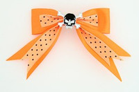 Dot orange / skull tooth black orange skull