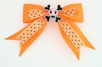 Dot orange / skull squared pink orange skull