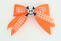 Orange / skull cross eye white orange skull
