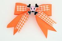 Orange / skull squared pink orange skull