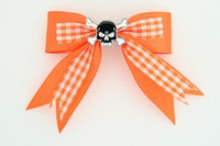 Orange / skull tooth black orange skull