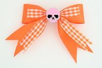 Orange / skull plain pink orange skull
