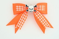 Orange / skull tooth white orange skull